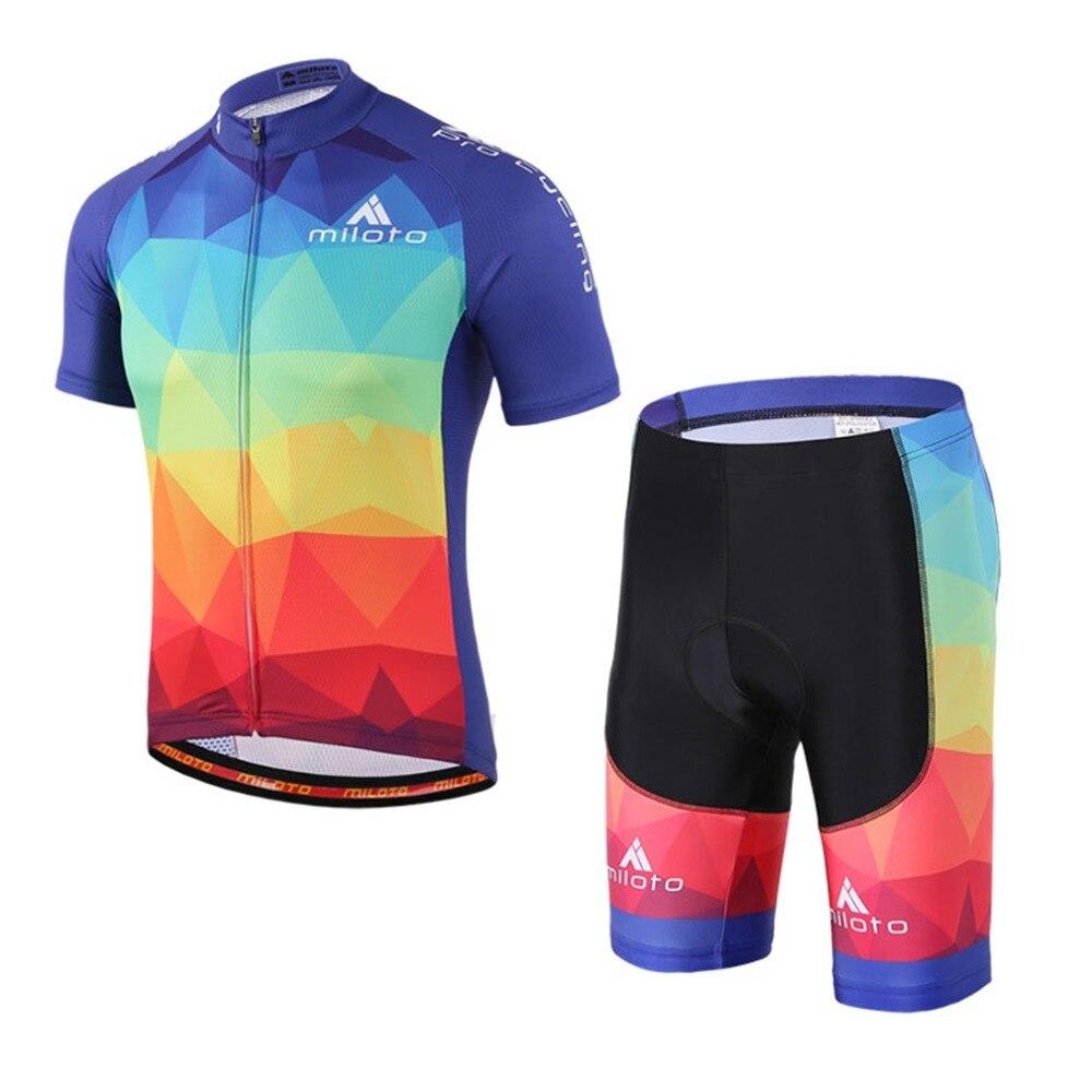 Boy Cycling Set Kids Balance Bikes Team Sports Maillot Ciclismo Cycling Jersey & Mtb Bike Bib Shorts Kit Children's Gift