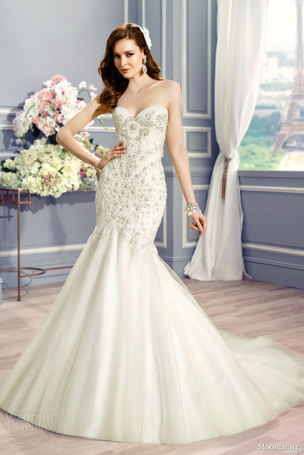 IM402 Luxury Mermaid Wedding Dress 2016 Latest Design Online ...