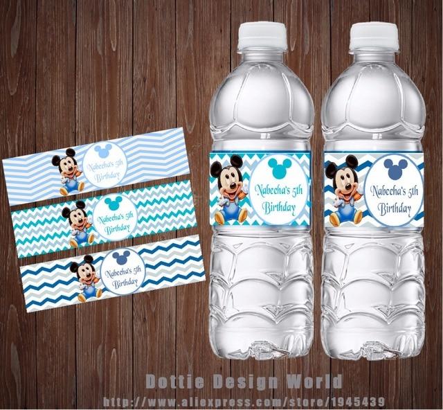20 Unids Lote Bebe Mickey Principe De Agua Botella Barra De Caramelo