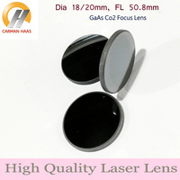 Carmanhaas GaAs Focus Lens Dia. 18 / 20mm FL 50.8 63.5 100mm CO2 Laser Ball Lens for Engraving Cutting Machine