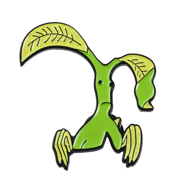 Personaje de anime de dibujos animados broche de esmalte Animal Bob Esponja árbol aleación insignia Denim camisa bolso Pins accesorios lindos regalos de joyería
