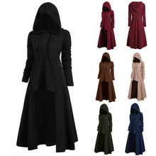 Womens Fashion Hooded Plus Size Vintage Cloak High Low Sweater Tops