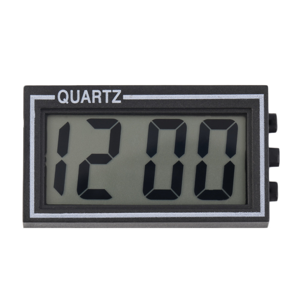 2017 NEW Arrival Small Size Digital LCD Table Car Dashboard Desk Date Time Calendar Small Clock Durable For Home Use