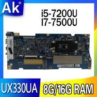 laptop Motherboard For ASUS UX330UAK UX330UA UX330U Mainboard  8G/16G RAM  I7-7500U  i5-7200U exchange!!!