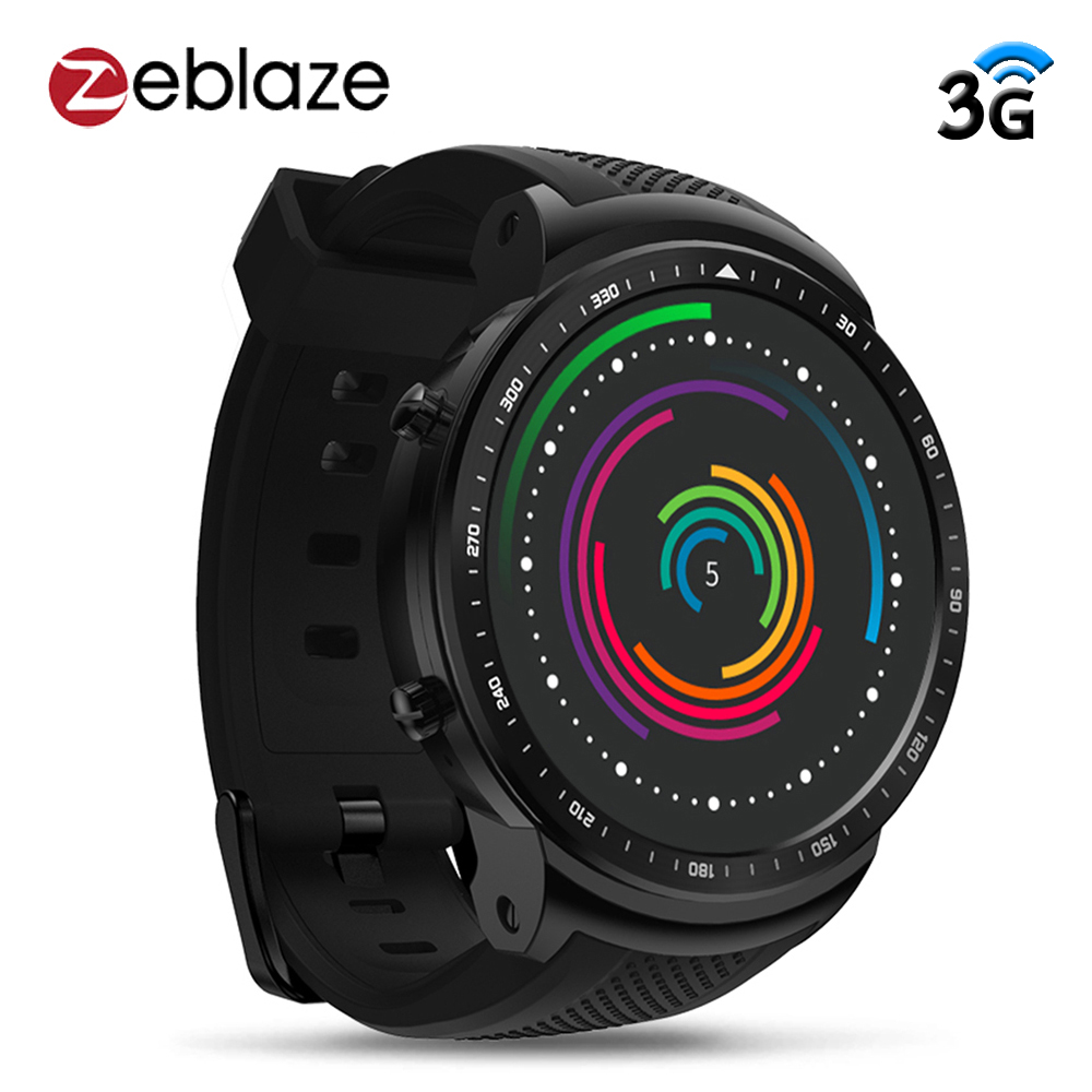 Zeblaze Thor PRO 3G GPS Smart Watch Phone 1.53 IPS Android 5.1 1GB 16GB Sport Smartwatch Men 2.0MP Camera Heart Rate Monitor s6 5 ips hd mtk6589 smartphone 1gb 16gb 13 0mp android 4 2 3g gps