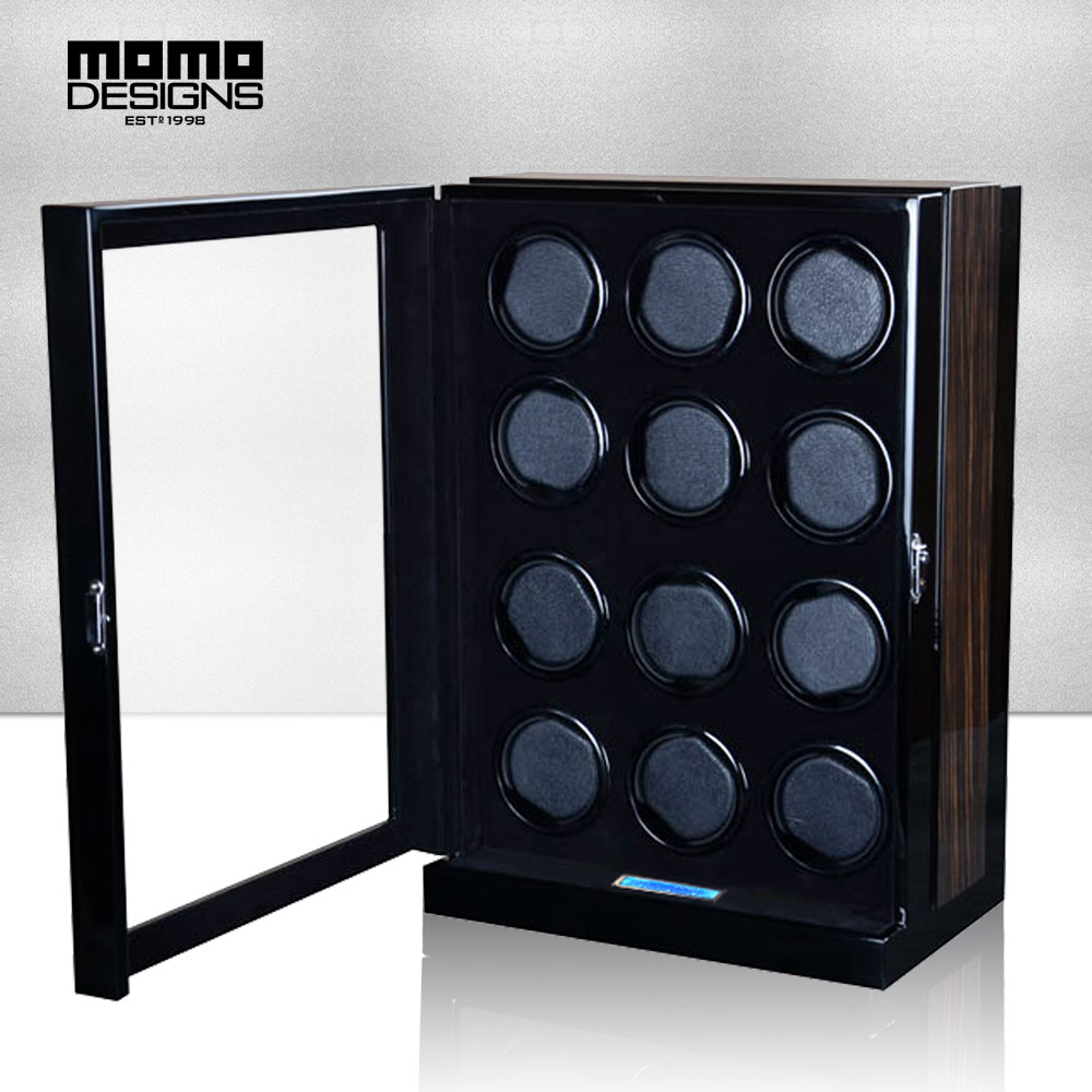 все цены на Excellent Automatic Watch Winder Box with JAPAN MABUCHI motor machine storage box LCD touch screen control High end quality онлайн