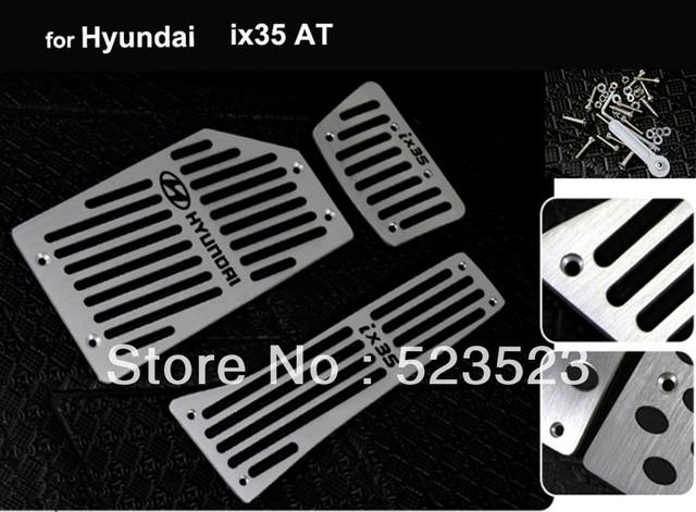 Free Ship for  Hyundai ix35 AT non-slip Foot Pedal+Brake+Rest Pedal - Aluminium Alloy 3pcs