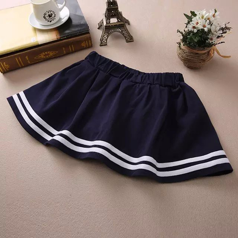 8b777e661d02 2106 New Casual Cotton Short Skirts for Ladies Navy Blue White Students Pleated  Skirts Women High Quality Stripe Mini Skirt-in Skirts from Women's Clothing  ...