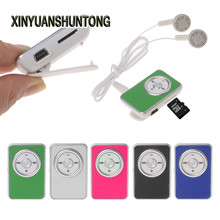 XINYUANSHUNTONG MP3 Mini Clip Music Media MP3 Player Support TF Micro SD Card With Earphone USB Cable