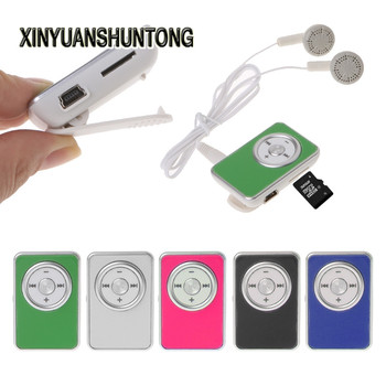 XINYUANSHUNTONG MP3 Mini Clip Music Media MP3 Player Support TF Micro SD Card With Earphone USB Cable portable media player