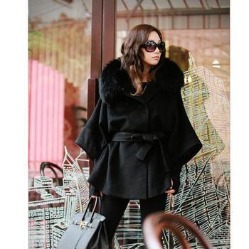 Women Winter Wool Blend Coat Plus Size