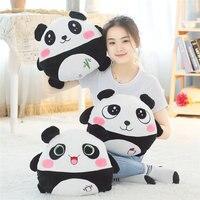 Cute Panda Plush Toy Stuffed Soft Animal Panda Pillow Christmas Gift for Kids Kawaii Valentine blanket Winter Hand warm