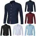 Brand Clothing Mens Shirt Business Casual Slim Dress Shirts Long Sleeve Formal shirt dress 5 Colors camisa masculina shirts AZ85