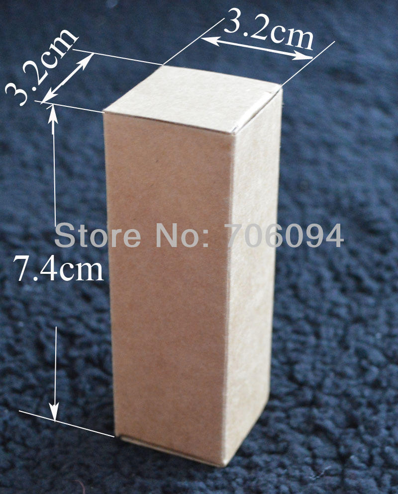 3.2*3.2*7.4CM,100pcs/lot,Cosmetic/Jewerly kraft paper box Brown kraft handmade gift boxe ...