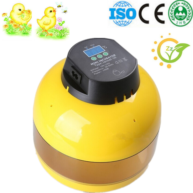 2016 Ten-Egg Mini Egg Incubator Poultry Chicken Goose Quail Duck Egg Incubator Chicken Hatchable Eggs automatic chicken incubator poultry harcher quail egg incubator 48 eggs egg incubator brooder machine zz48