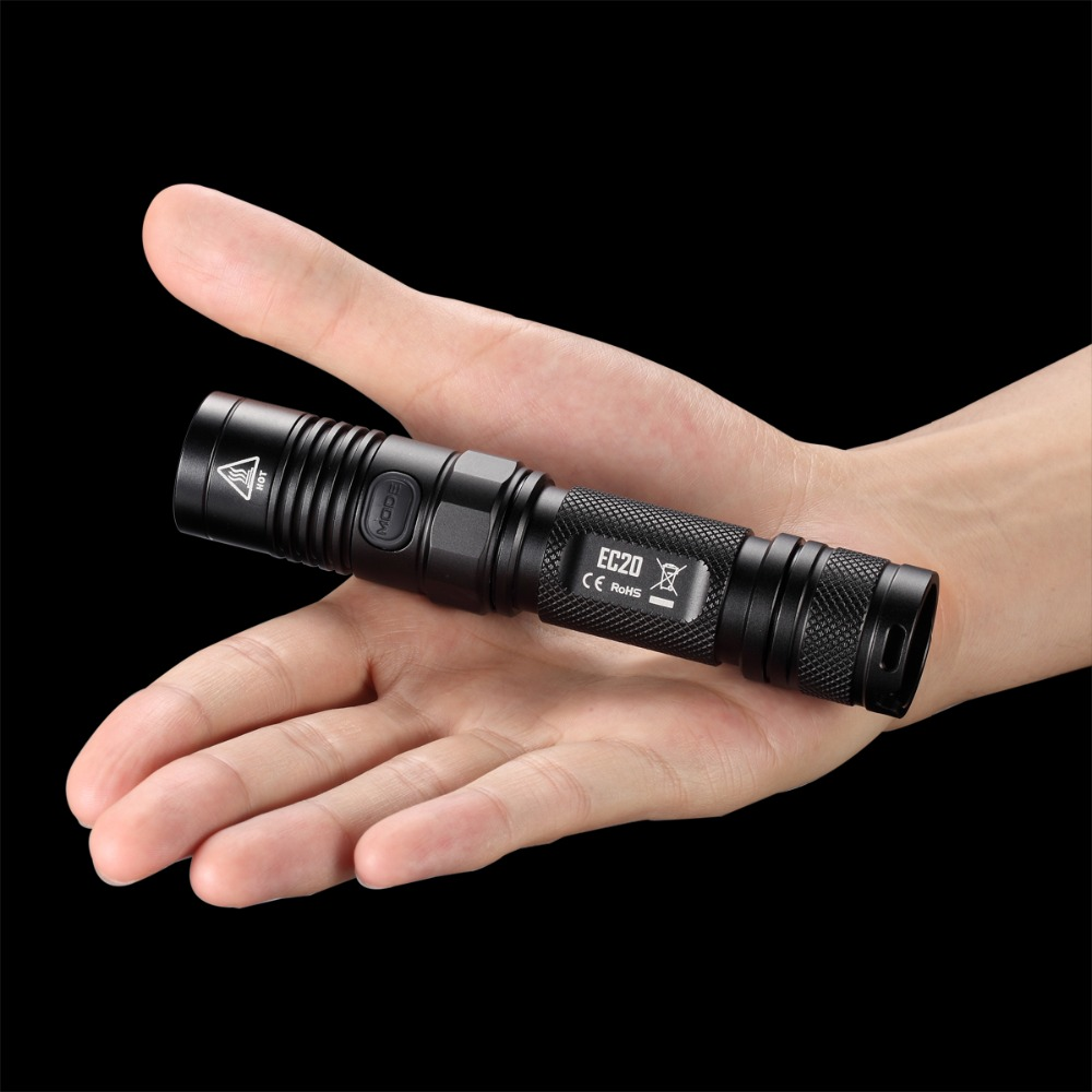Купить с кэшбэком NITECORE EC20 CREE XM-L2 T6 LED Flashlight 960Lumen Waterproof 18650 Outdoor Camping Hiking Hunting Portable Torch Free Shipping