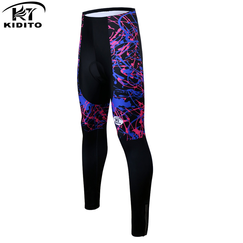 KIDITOKT 2020 Pro Women Cycling Trousers Quick-Dry Mountain Bicycle Cycling Pants Shockproof Cycling Tights With 3D Gel Padded