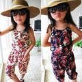 Summer Floral Toddler Baby Girls Short Playsuit Kids Fashion Chiffon Jumpsuit