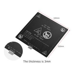 Image 4 - Алюминиевая грелка Aibecy 12 В 220*220*3 мм, грелка с проволочным кабелем, комплект платформы для 3D принтера Anet A8 A6