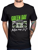 Funny Cotton T Shirts Office Green Day Kill The Dj O Neck Short Sleeve Tee For