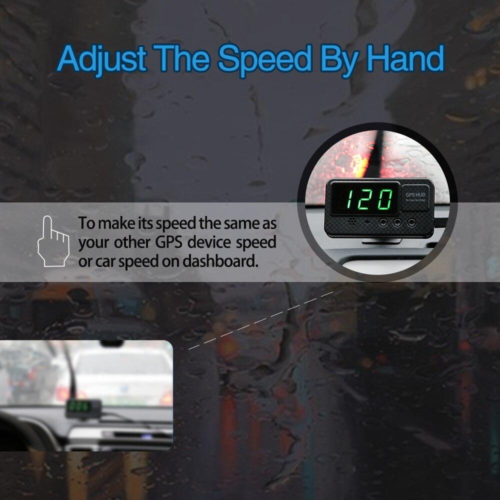 Image 5 - Универсальный Hud gps измеритель скорости дисплей скорости автомобиля с сигнализацией скорости MPH км/ч для всех автомобилей A100 обновление-in Проекционный дисплей from Автомобили и мотоциклы on AliExpress - 11.11_Double 11_Singles' Day