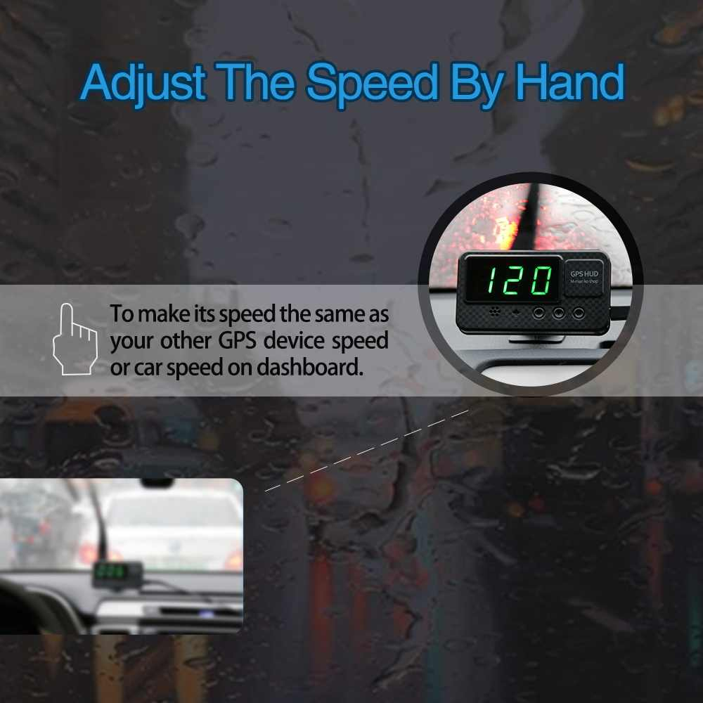 C60S Noblik Universal GPS Head Up Display Speedometer Odometer Car Digital Speed Display Mph Over Speeding Alarm Car Clock For All Vehicles C60//C60S//C80//C90