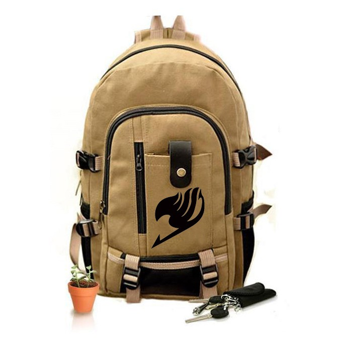 Fairy Tail Backpack Teenagers Tale Canvas Japan Anime Printing Pattern School Bag Middle Students Travel - Classic Cospaly clothing store