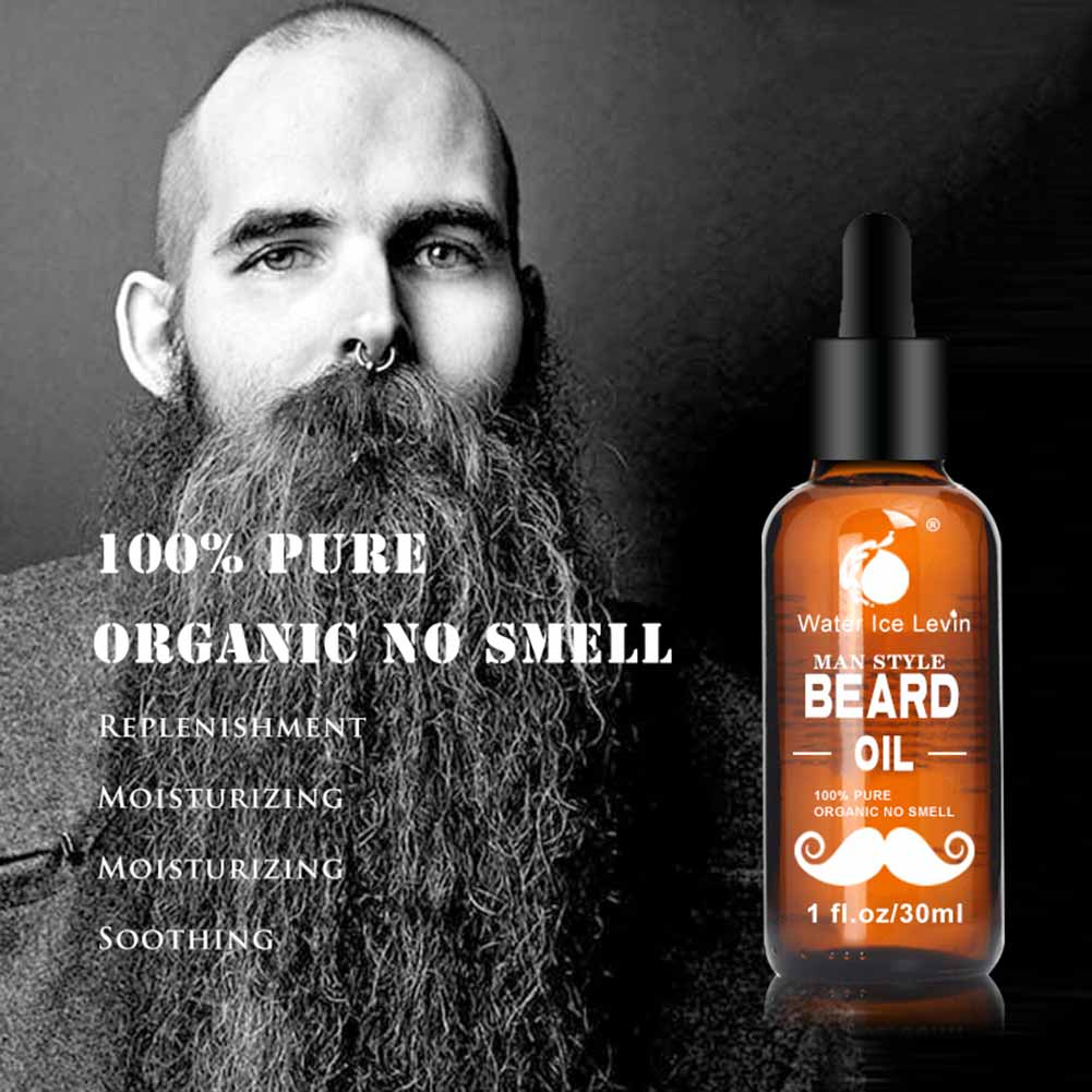 30ml Men Beard Oil for Styling Smoothing Mustache Growth Care Conditioner Softener Facial Grooming Gentle Men Beard Beauty Care 5