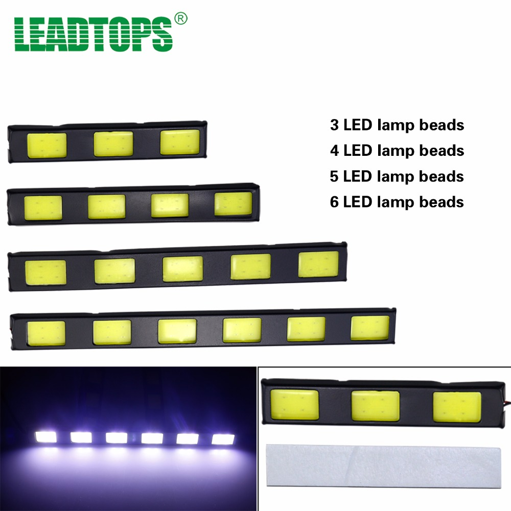 Car-styling Daytime Running Light Lamp Fog Driving Daylight Special Offer 2x Cob DRL Car 5 Led Auto Day Lights Super Bright AB