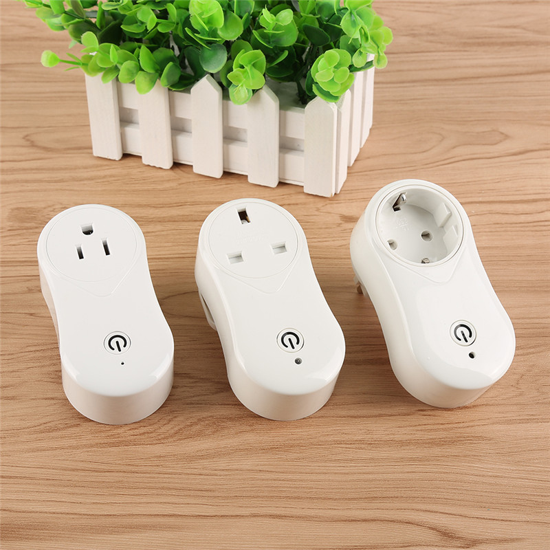 EU US UK Plug Wireless Remote Control Home Appliance Automation Wifi Smart Phone Power Socket Timer Switch Wall Plug Cell Phone suck uk