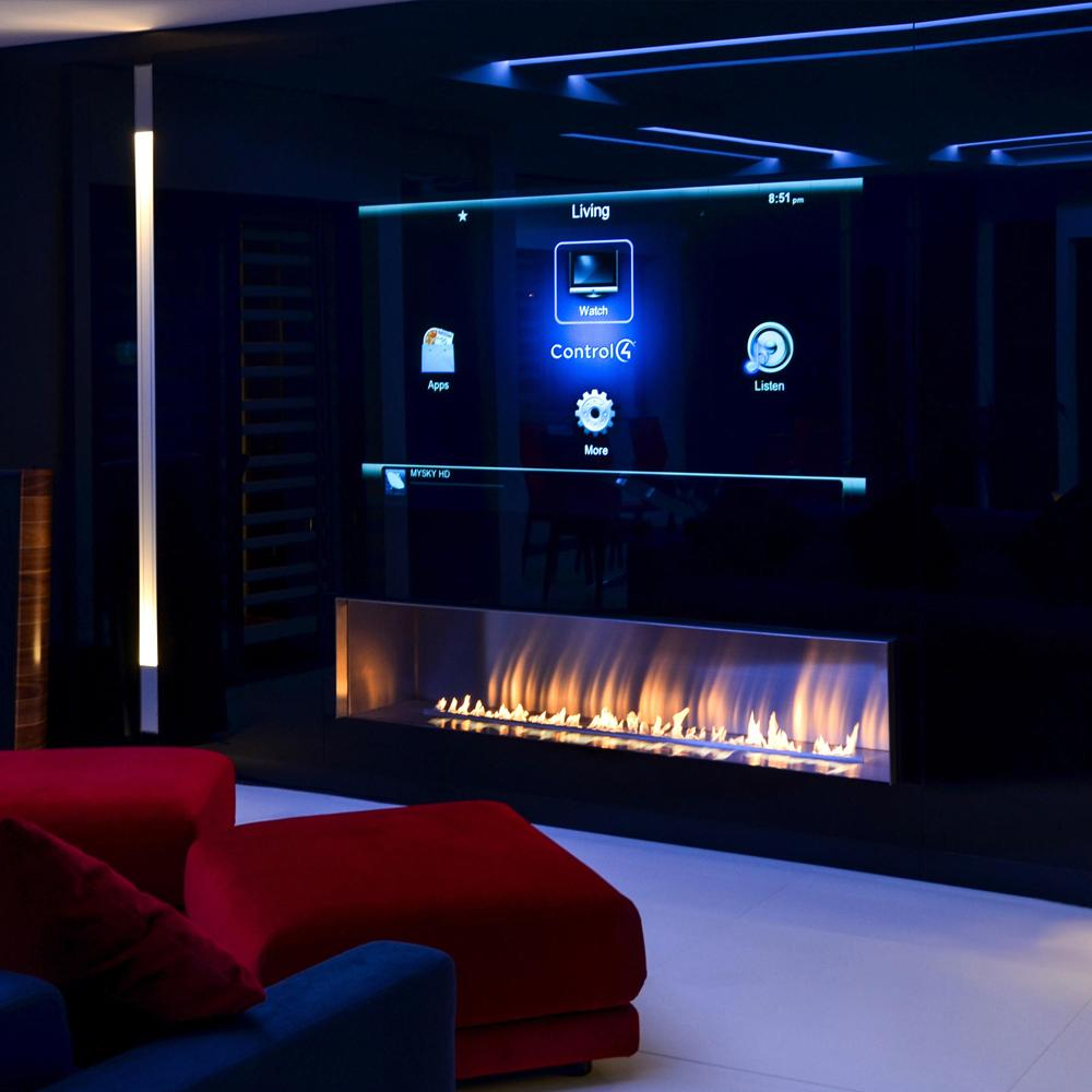 Inno Living Fire  Indoor 36inch Firebox Insert With Remote Control Bioethanol Fire