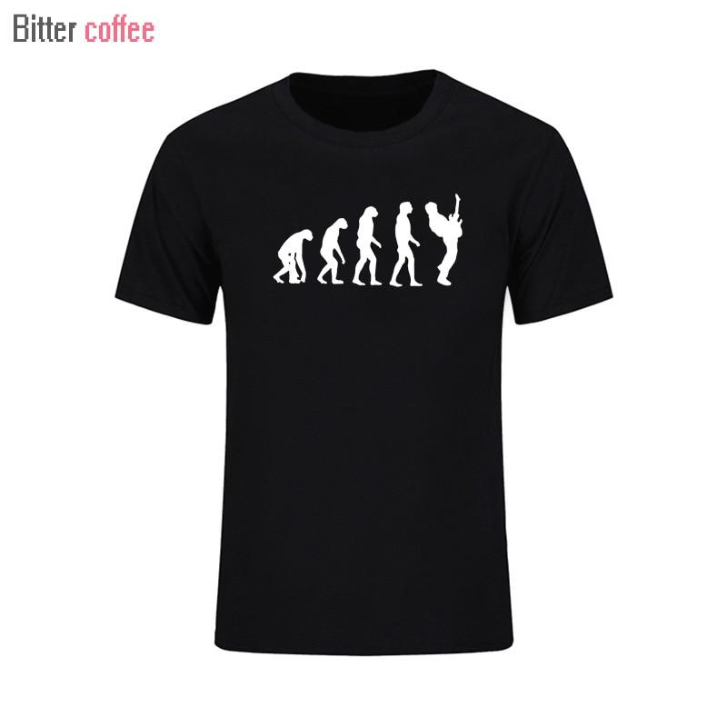 2017 년 새로운 여름 패션 진화 기타 플레이어 t 셔츠 - 남성 의류
