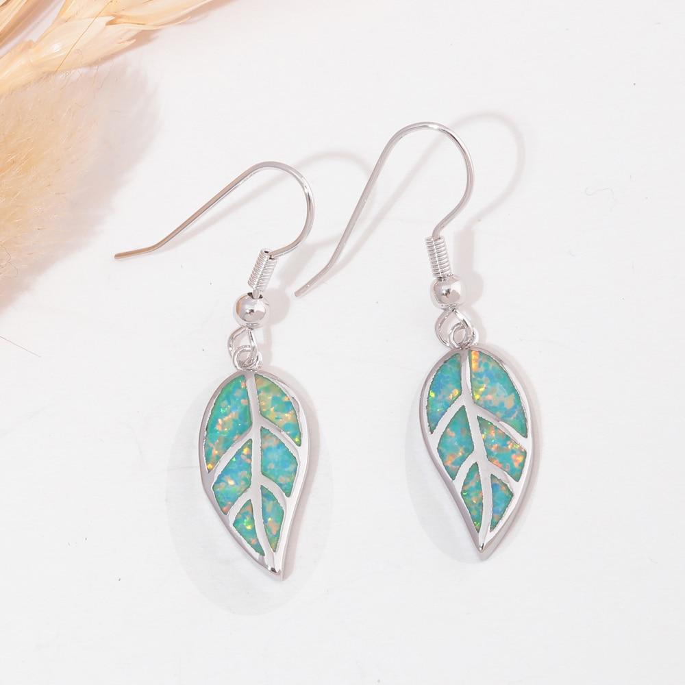 CiNily Ελιά Πράσινη Φωτιά Opal Long - Κοσμήματα μόδας - Φωτογραφία 3