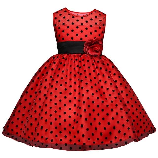 598e0363d € 9.09 25% de DESCUENTO|Vestido de niña de flores para la boda niños ropa  chica partido frock niños tulle traje Vestidos para niña de 10 años ...