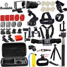 Zookkbb For Gopro Accessories set for go pro hero 5 4 3 kit mount for SJCAM / xiaomi yi camera / eken h8 tripod 12E