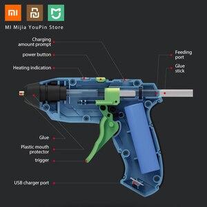 Image 2 - XIAOMI Tonfon Original 3.6V Cordless Hot Glue Guns USB Rechargable with 10 Glue Sticks Melt Glue Guns Kits