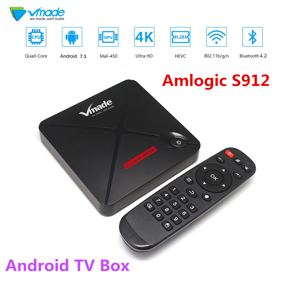 Vmade V9 PRO TV Box Android 7.1 Amlogic S912 H.265 MPEG-1/2/4 2GB 16GB Bluetooth 4.2 Support Skype Youtube Facebook Smart TV Box