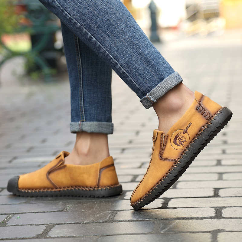 ARUONET สบาย Mens Casual รองเท้า Loafers Vintage สไตล์ Breathable Light ผ้าแบนรองเท้าแตะชายรองเท้า Zapatos Para Hombre