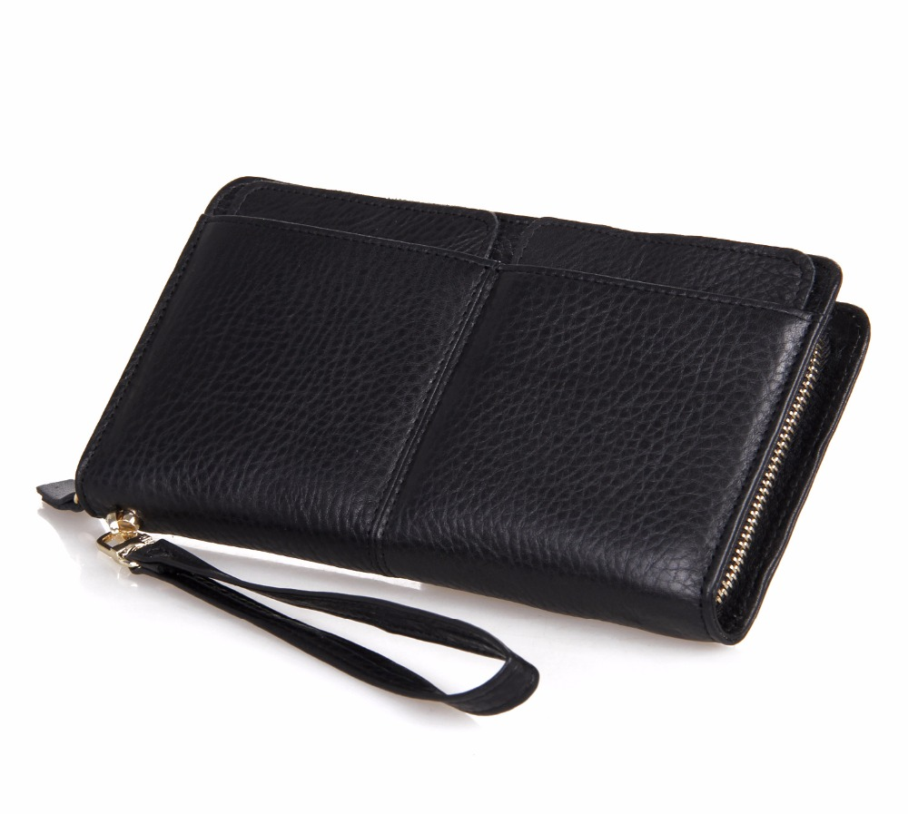 Real Leather Clutch Bag For Men Fashion Casual Zipper Wallet Top Layer Leather Cell Phone Purse Hombre Simple Long Bag все цены