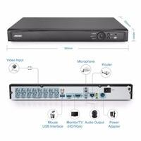Annke 16ch 1080 P CCTV DVR 16 Каналы 1080 P цифрового видео Регистраторы H.264 видеонаблюдения DVR 2.0mp HDMI P2P удаленного доступа