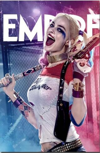 Custom Canvas Art Suicide Squad Poster Harley Quinn Wall Stickers
