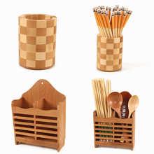 Créatif haute qualité étagère de rangement bambou baguettes Cage multi fonction cuisine couverts étagère de rangement égouttoir étagère de douche