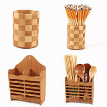 Creative Hoge Kwaliteit Opbergrek Bamboe Eetstokjes Kooi multifunctionele Keuken Bestek Opbergrek Afvoer Rack Douche Plank