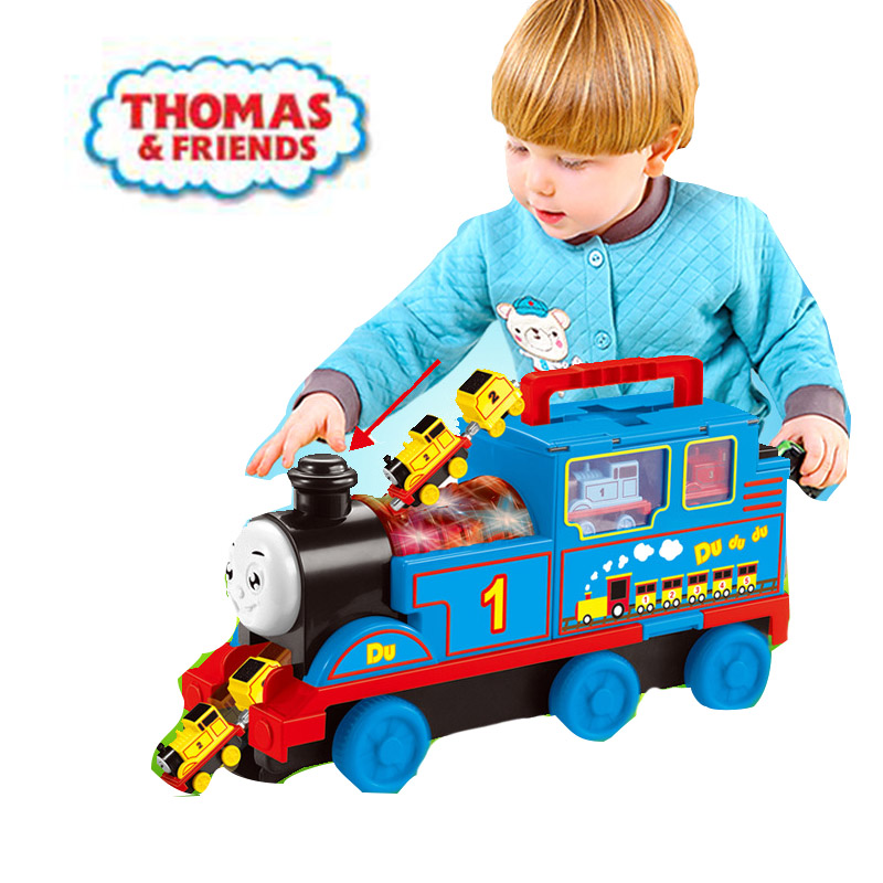 Thomas and Friends Diecasts Toy Vehicles Children's model container truck simulation car train toy alloy magnetic boy toy gift image