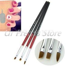 3 шт. мягкий Профессиональный Draw Pen УФ-гель Краски Дизайн ногтей Расчёски для волос Маникюр Инструмент HTY07
