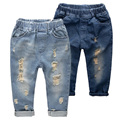 De moda Los Pantalones de Mezclilla Chicos Vaqueros Rotos 2-14 Yrs Niños Bebés Niños Jeans Ropa de Algodón Pantalones Vaqueros de Los Niños Ocasionales niños Pantalones SC176