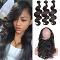 360 Lace Frontal With Bundles 7A Peruvian Virgin Hair Body Wave With Closure Pre Plucked 360 Frontal With Human Hair Bundles