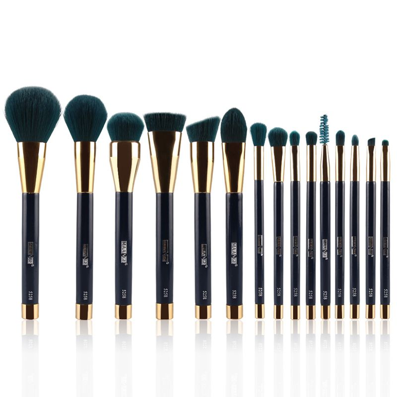 15pcs Pro Makeup Brushes Set Foundation Powder Eyeshadow Eyeliner Lip Brush Tools Eyeshadow Set Highlighter Brushes mac splash and last pro longwear powder устойчивая компактная пудра dark tan