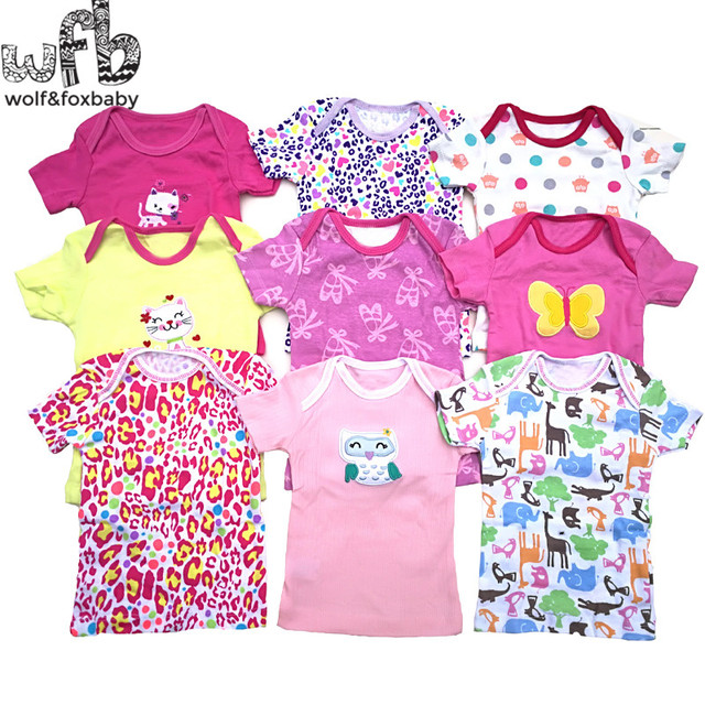 8cebbe9e538c Retail 5pcs lot 0 24months short sleeve t shirt Baby Infant cartoon ...