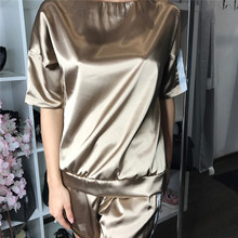 Tracksuits Time-limited Polyester Short 2017 Summer New Women's Suit Casual Short-sleeved T-shirt + Shorts Women Fashion Two